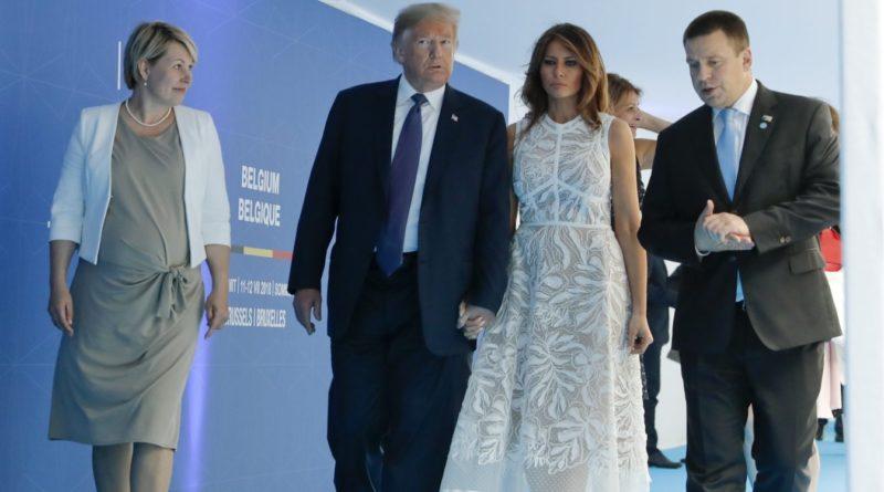 Jüri Ratas ja Donald Trump vestlesid jalutuskäigul NATO tippkohtumise õhtusöögile