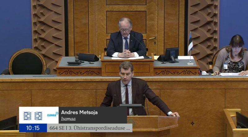 Riigikogu ei toetanud Isamaa algatust muuta ühistranspordiseadust