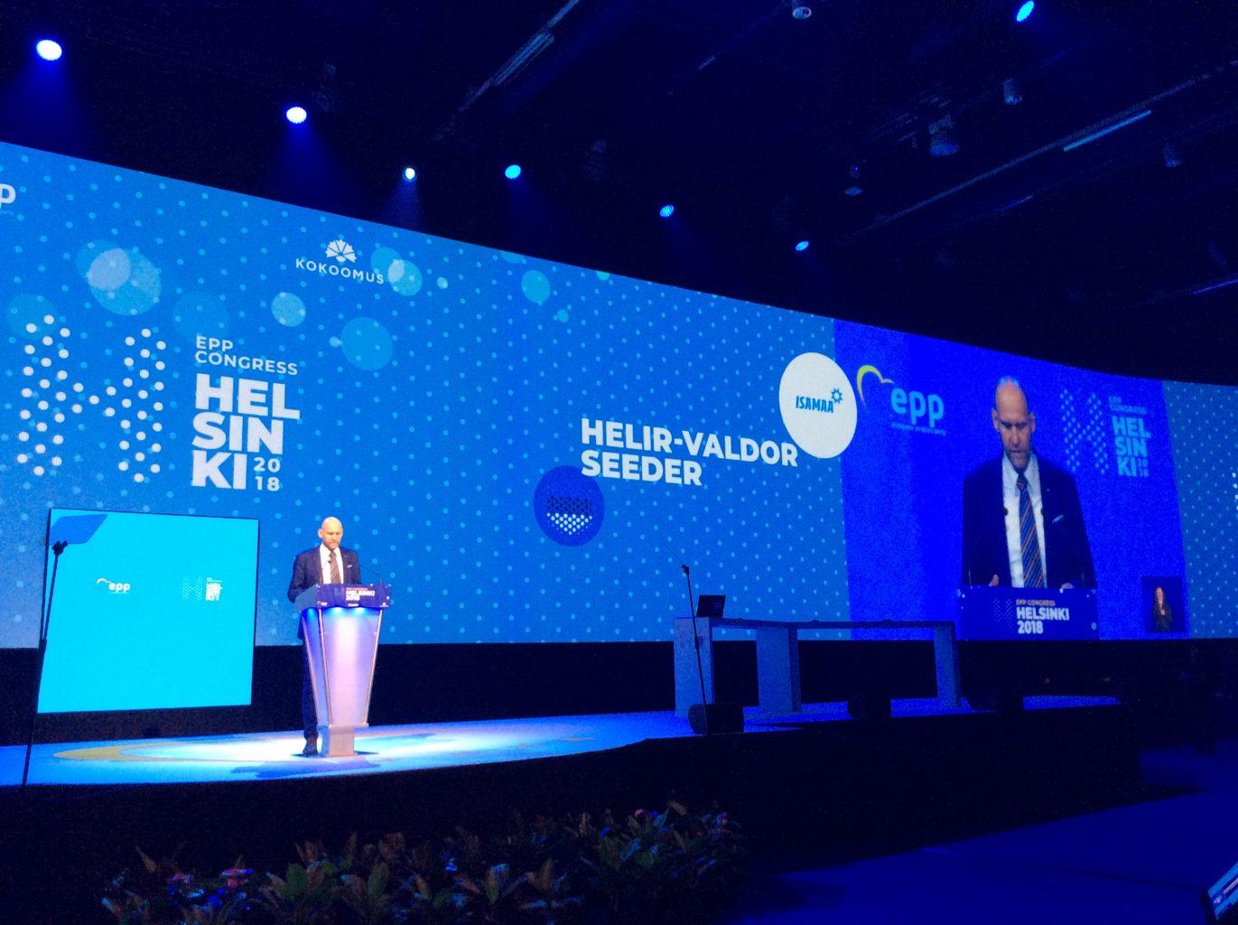 Helir-Valdor Seeder osaleb Horvaatias toimuval Euroopa Rahvapartei Kongressil