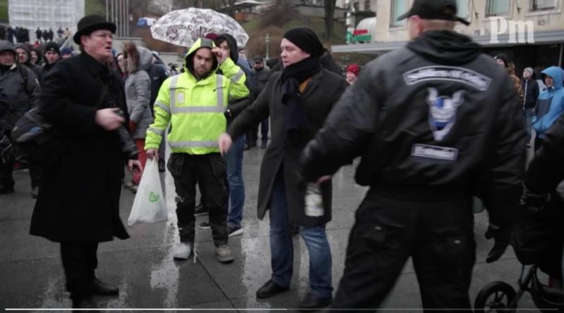 Eesti 200 välismaalasest liige rüseles rändepakti vastasel meeleavaldusel