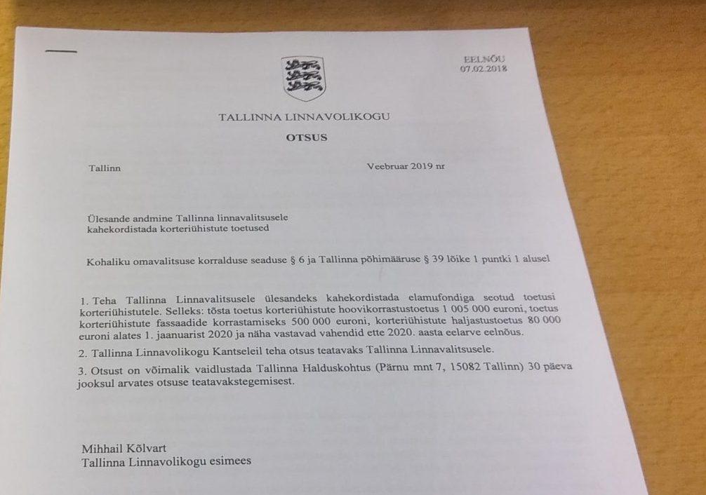a60d548ff17 Isamaa: Tallinna korteriühistute renoveerimistoetused tuleb kahekordistada