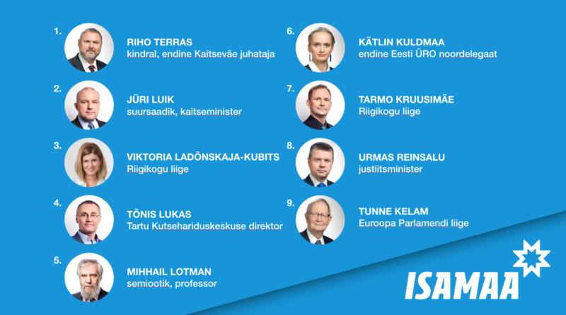 Isamaa volikogu kinnitas Euroopa Parlamendi kandidaatide valimisnimekirja