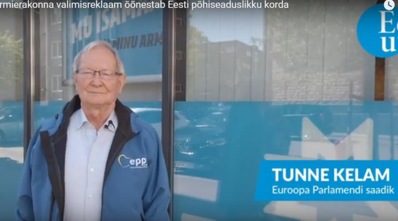 VIDEO: Tunne Kelam: Reformierakond õõnestab Eesti põhiseaduslikku korda