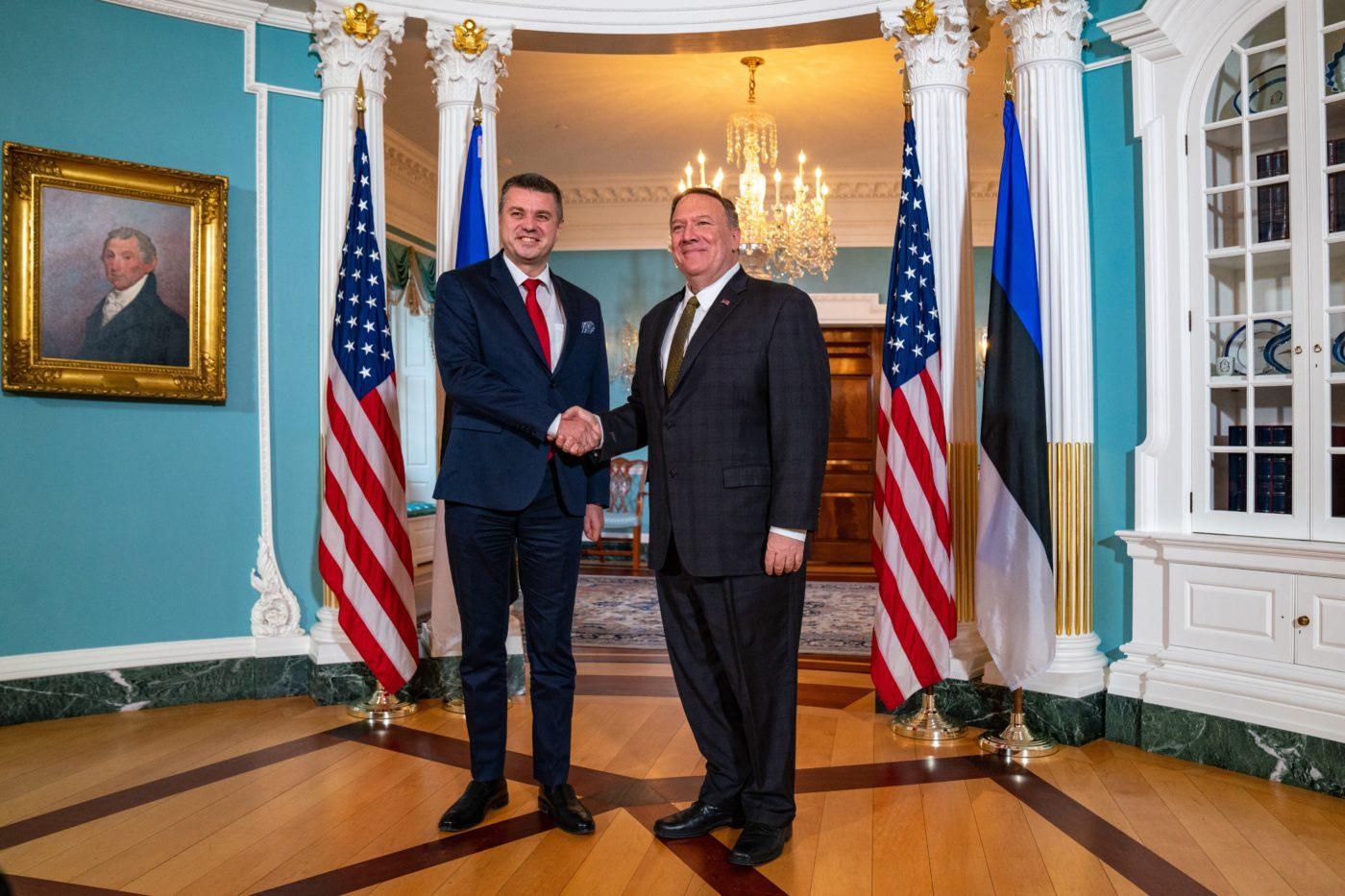 Urmas Reinsalu kohtus eile Washingtonis USA välisministri Mike Pompeoga