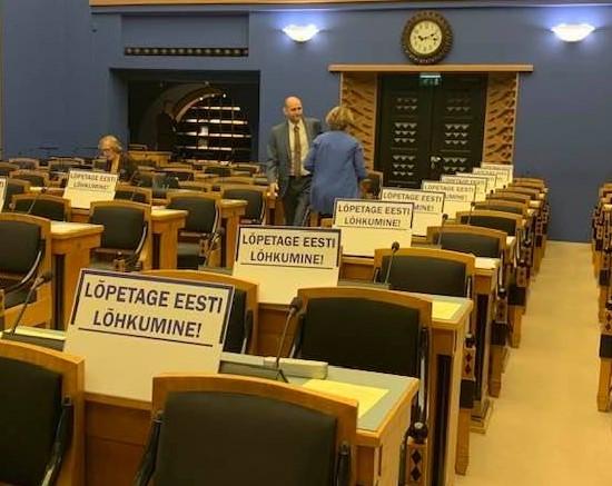 Pensionireformi hääletus: opositsioon tegi Riigikogu istungist palagani
