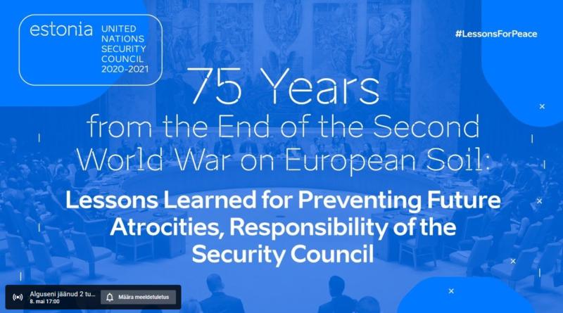 OTSE: Teise maailmasõja lõpu 75. aastapäeva rahvusvaheline arutelu
