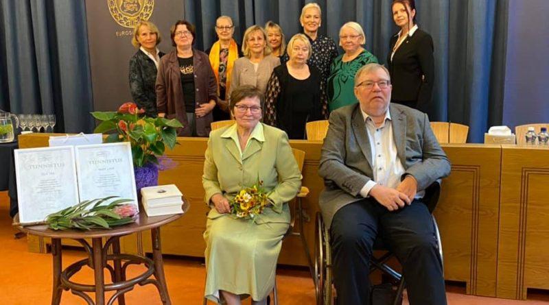 Eesti Panga muuseumis anti Mart Laarile ja Eela Jääle üle Jakob Hurda rahvuskultuuri auhinnad